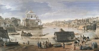 San Giovanni dei Fiorentini, Raffaello, Inserimento in una Veduta di Gaspar van Wittel